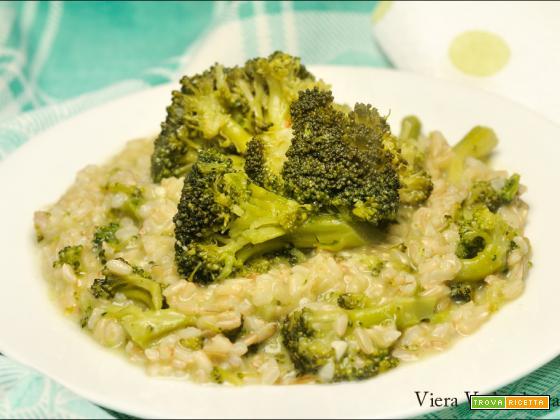 Risotto integrale cremoso con broccoli senza glutine