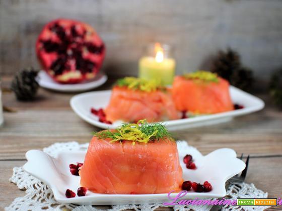Antipasto al salmone affumicato