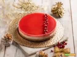 Cheesecake alla melagrana, gusto e colore a tavola