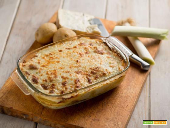Lasagnette con porri e gorgonzola, un'ottima alternativa