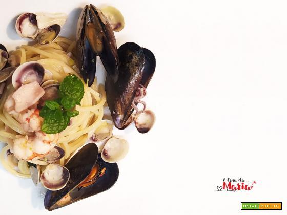 Spaghetti ai frutti di mare e menta