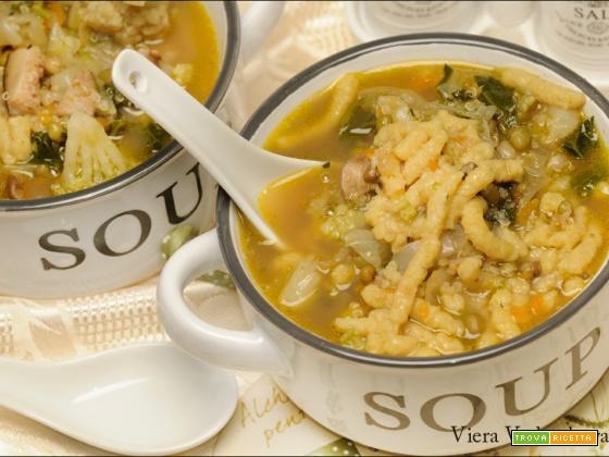 Zuppa invernale con passatelli a modo mio