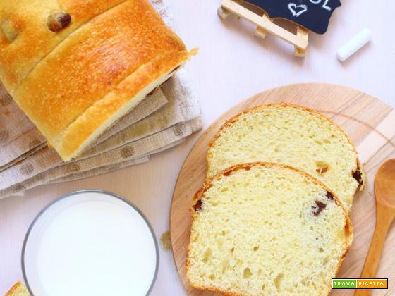 Pan brioche di farro con uvetta