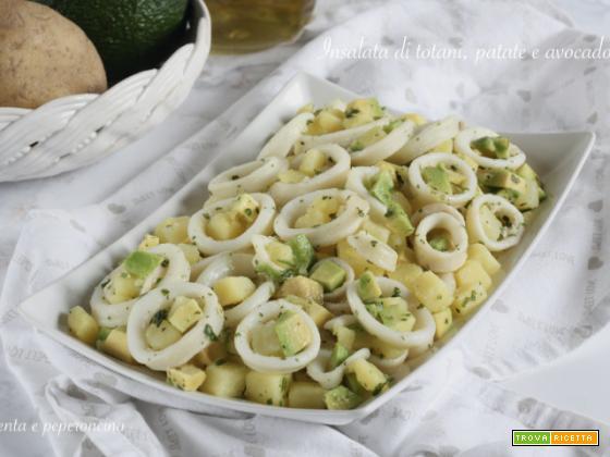 Insalata di totani, patate e avocado