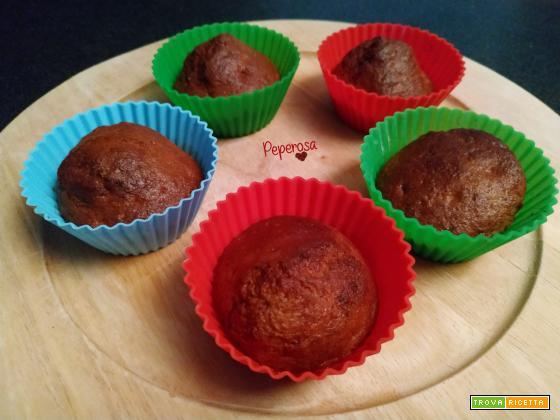 Muffin di banana bread in friggitrice ad aria
