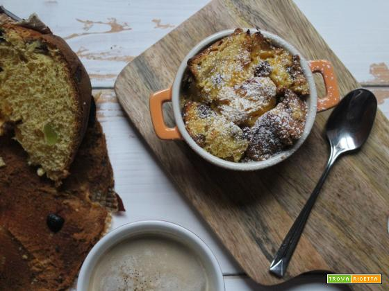 Pudding di panettone: ricetta di recupero post-natalizia
