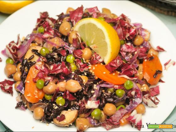 Riso Nerone con le verdure invernali senza glutine