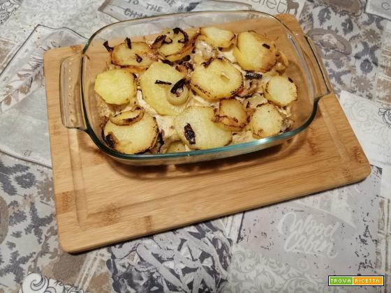 Tortino di patate e carne lessata