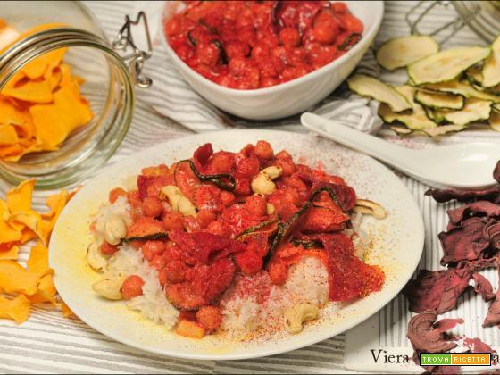 Verdure essiccate in salsa con Basmati