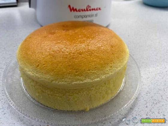 Japanese Cotton Cheesecake con Companion Moulinex