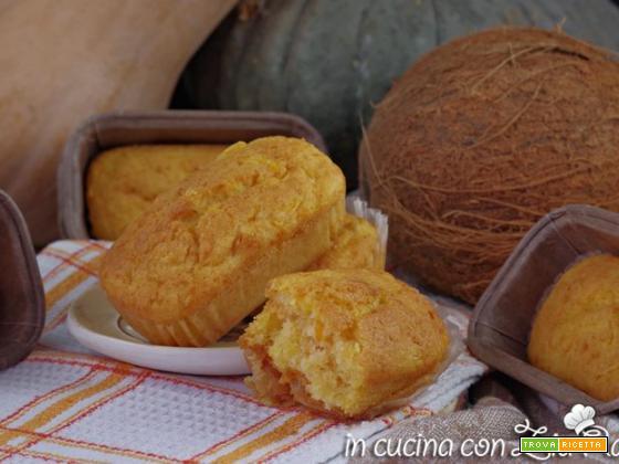Plumcake al cocco e zucca  versione mini