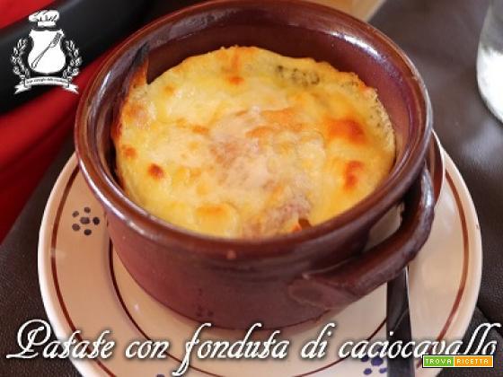 Patate con fonduta di Caciocavallo Podolico