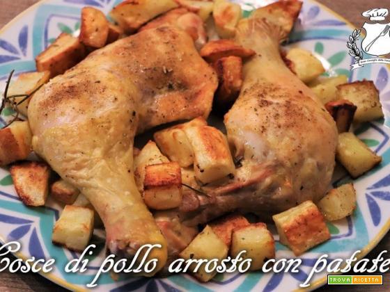 Cosce di pollo arrosto con patate
