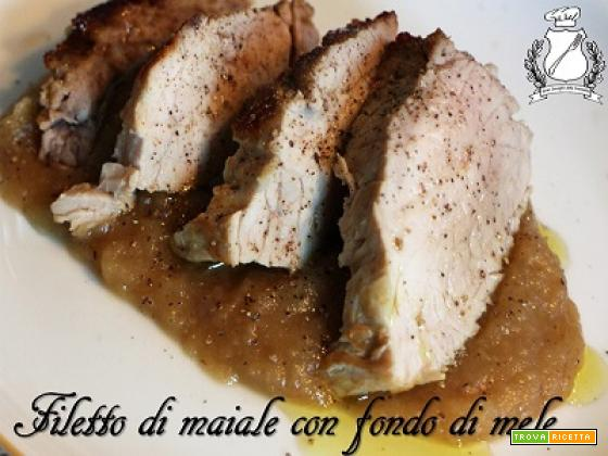Filetto di maiale arrosto con fondo di mele