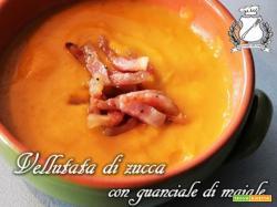 Vellutata di Zucca con Guanciale di maiale croccante