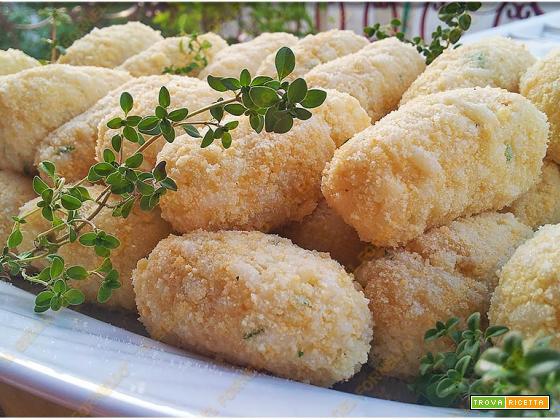 Crocchette di patate e riso | Perfette per cottura al forno e fritte