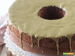 Chiffon cake al cacao e crema di pistacchio