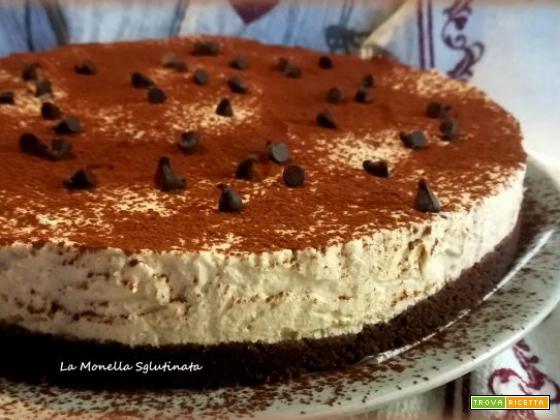 Cheesecake al caffè senza glutine