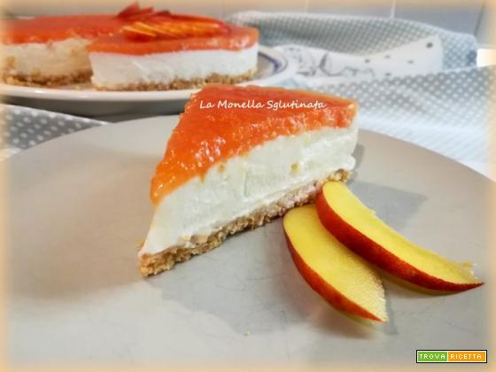 Cheesecake alle pesche nettarine senza glutine