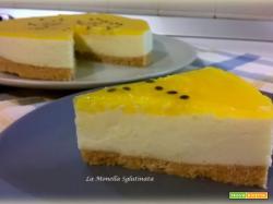 Cheesecake alla panna e passion fruit