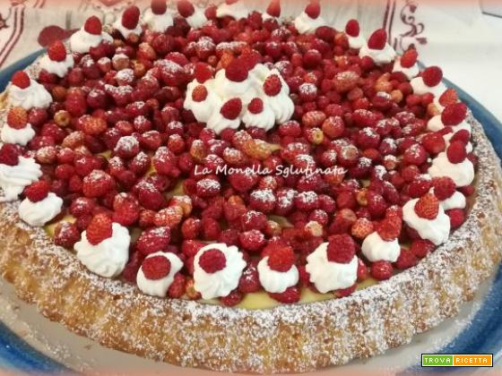Crostata morbida con chantilly e fragoline