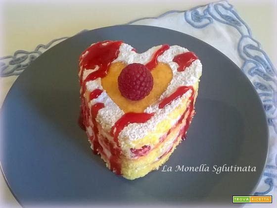 Cuoricino panna e fragole della Monella