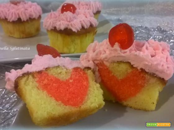 Cup cake romantici sglutinati