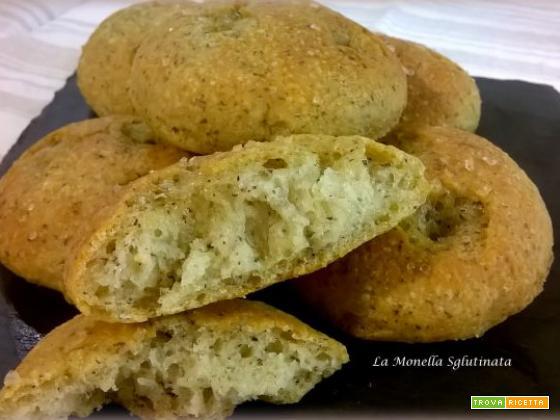 Focaccine di grano saraceno senza glutine