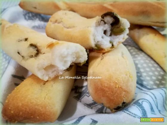 Grissoni alle olive verdi con lievito madre