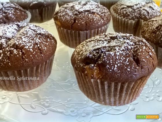 Muffin con cuore di cioccolato bianco