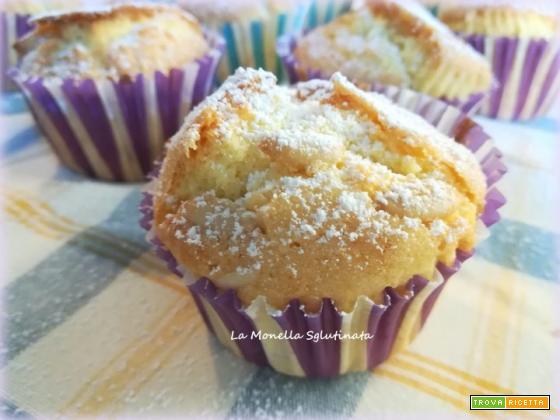 Muffin con farine naturali uvetta e pinoli