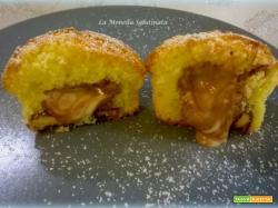 Muffin con cuore kinder senza glutine
