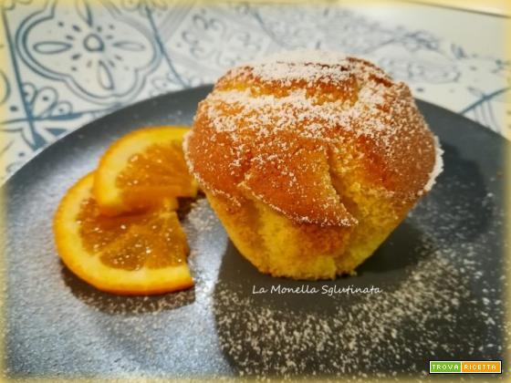 Muffin soffici all'arancia senza glutine