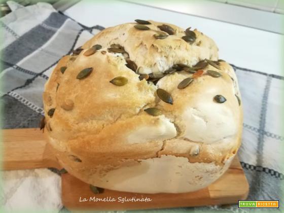 Pane con semi di zucca con mdp