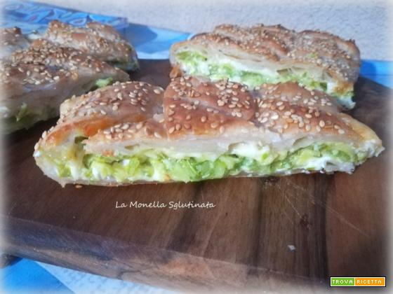 Strudel di zucchine e formaggio filante