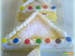 Torta alberello di Natale panna e fragole