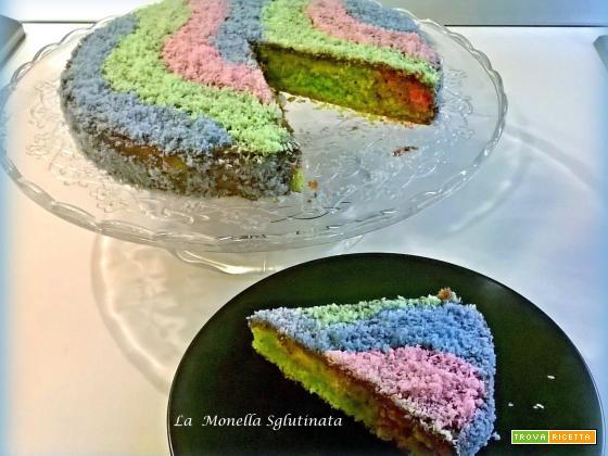 Torta arcobaleno senza glutine