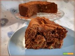 Torta soffice di mele al cioccolato