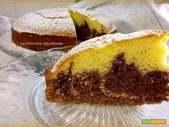 Torta variegata cacao e panna senza glutine