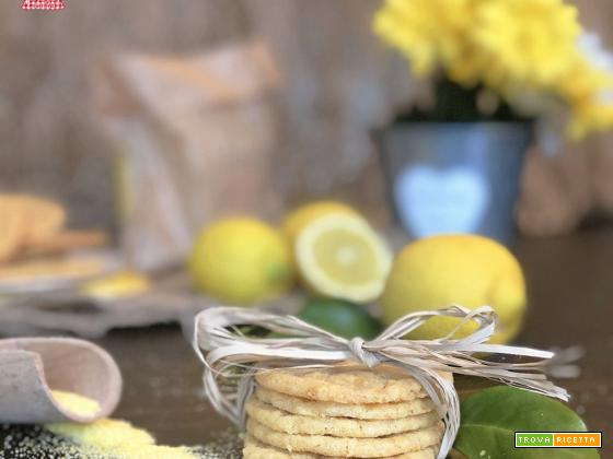 Biscotti al LIMONE con farina di MAIS pronti in 10 minuti