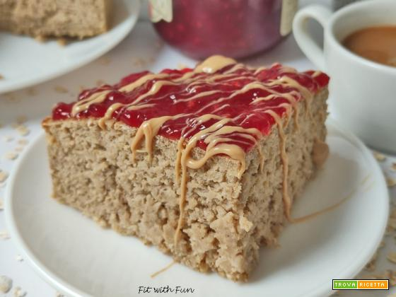 Torta Proteica Avena e Yogurt Greco Senza Zucchero