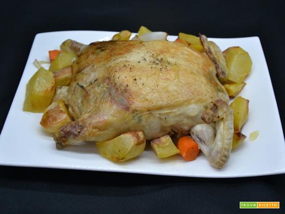 Ricetta – Pollo ripieno con ventrigli e fegatini