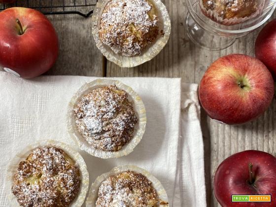 Muffin con mele, cannella e fiocchi d'avena