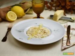 Risotto all'Ambra di Talamello e limone candito