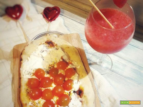 Pinsa di San valentino e Daiquiri
