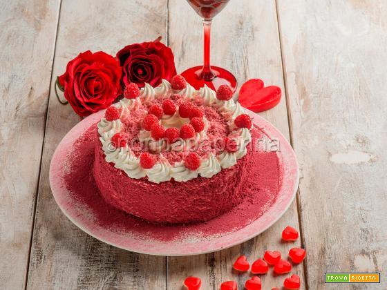 Red Velvet al mais bianco, torta per grandi occasioni