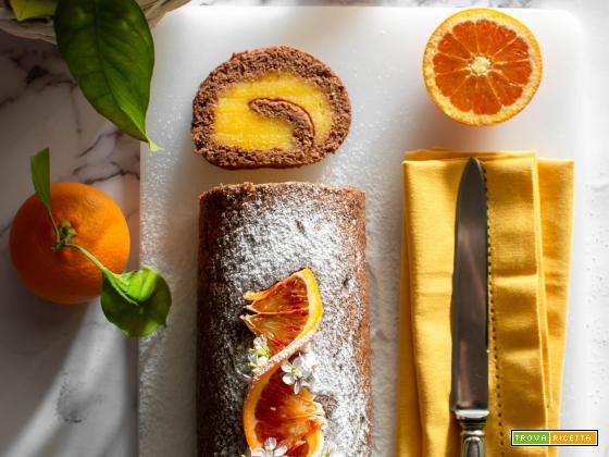 Rotolo al cacao con crema all'arancia senza glutine