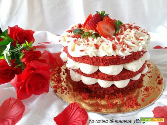 Red Velvet cake con ganache al cioccolato bianco
