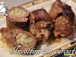 Involtini di carne con carciofi