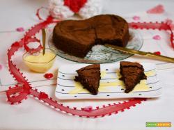 Torta di San Valentino al cioccolato e olio evo